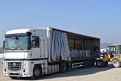 Kostka granitowa-transport